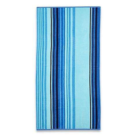 cooling towel bed bath and beyond cool stripe beach towel in blue bed bath beyond