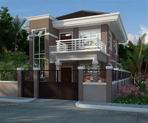 splendid modern residential house with balcony amazing
