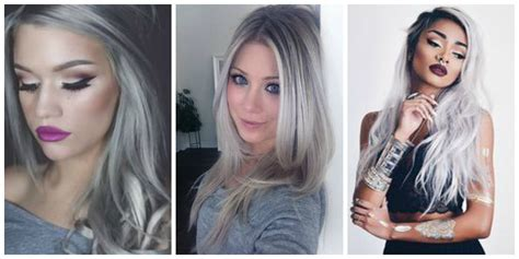 grey hair trend 2015 makeup for grey hair life style by modernstork com