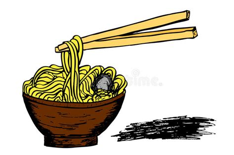 doodle noodle doodle noodle at bowl and stick stock vector image 47911683