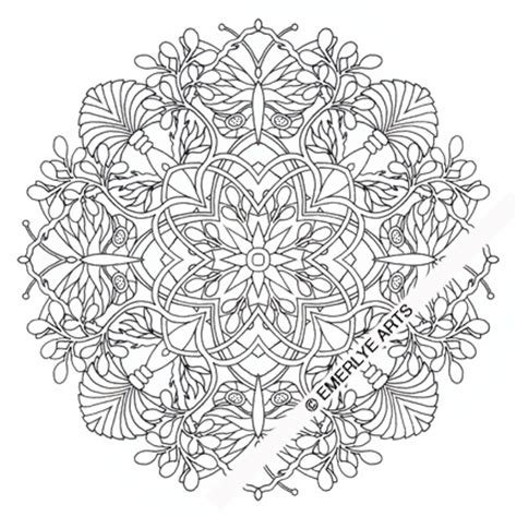 emerlye arts coloring butterfly mandala coloring page