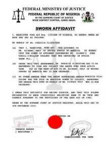 how to write an affidavid