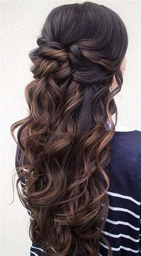 formal hairstyles half up half down curls 15 half up and half down hairstyles long hairstyles