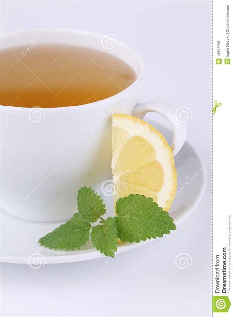 Daffodil Tea Detox by Lemon Balm And Lemon Royalty Free Stock Photos Image
