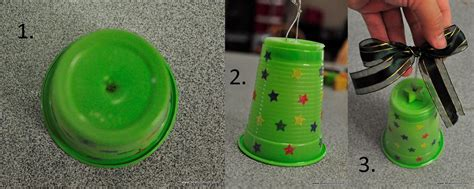 how to mske christmas ornaments with plastic cups plastic cup bell be a