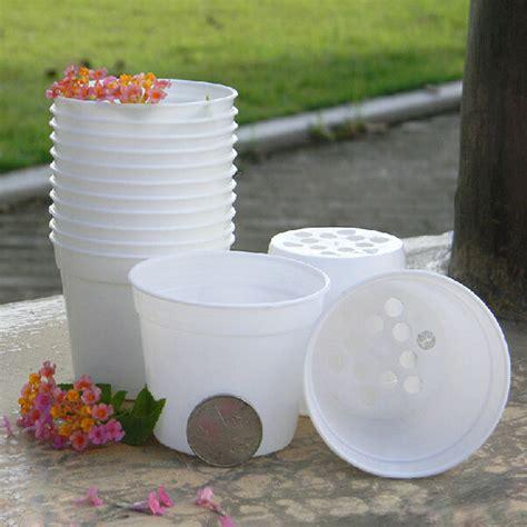 White Garden Pots White Flower Pot Plastic Garden Flowerpot Alex Nld