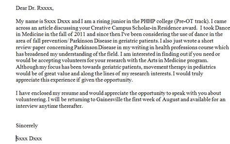 writing in psychology cover letters