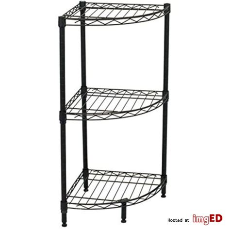 s best 3 tier corner wire shelving black heavy