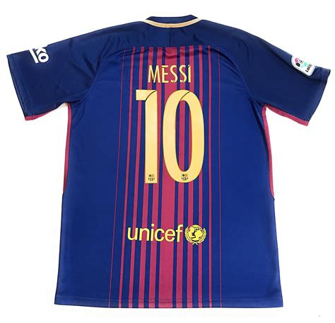 barcelona jersey 2018 messi 10 2017 2018 new fc barcelona home jersey men adult