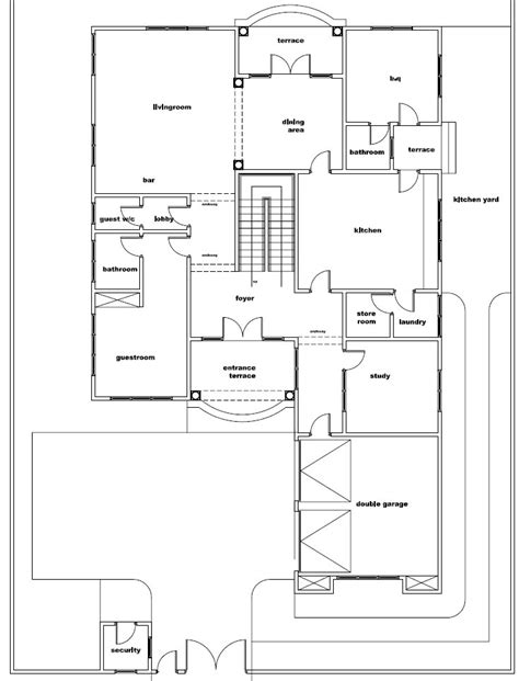 ground floor plans house ghana house plans naa house plan