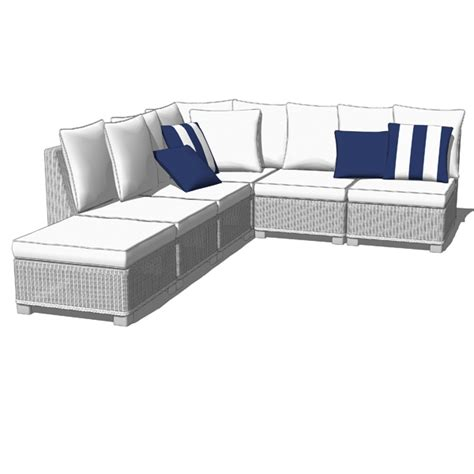 all white sectional palmetto white sectional sofas 3d model formfonts 3d
