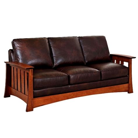 arts and crafts sofa leather mission sofa used arts crafts mission style