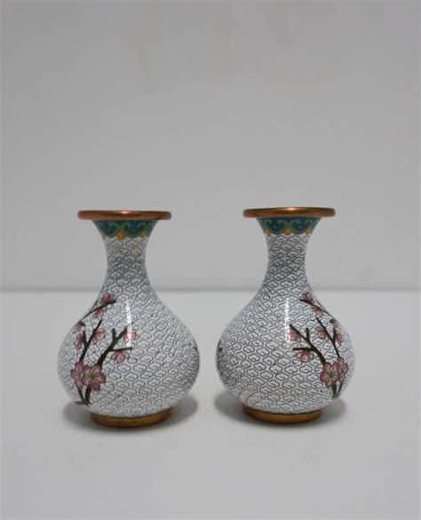 Vintage Vases For Sale by Pair Vintage White Cloisonne Vases For Sale At 1stdibs