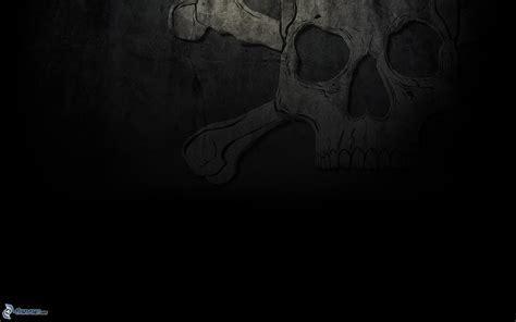 wallpaper black skull skull black backgrounds wallpaper cave