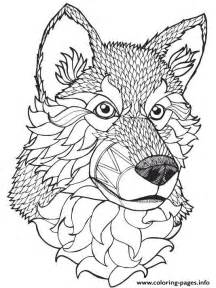 wolf coloring pages for adults print high quality wolf mandala coloring pages