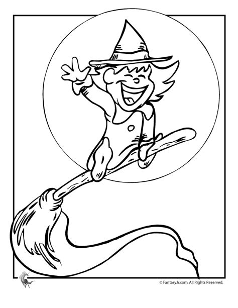 halloween witch halloween coloring pages witch