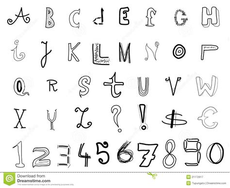 free doodle handwriting fonts doodle font royalty free stock photography image 21172917