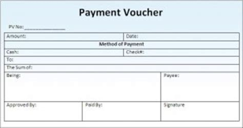 Credit Voucher Format In Word 7 Free Payment Voucher Templates Excel Pdf Formats