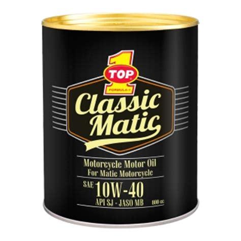 Oli Top One Matic Top 1 Classic Matic 10w 40 Jaso Mb Oli Top 1