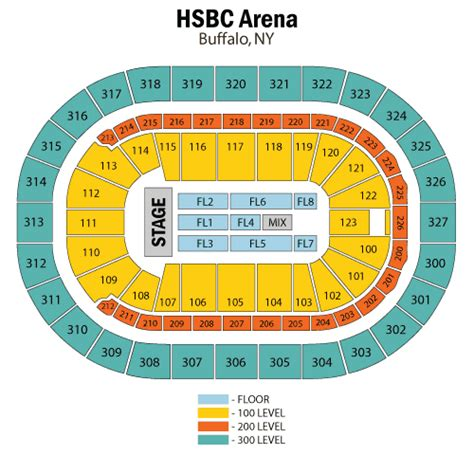 niagara center detailed seating chart lil wayne march 18 tickets buffalo niagara center