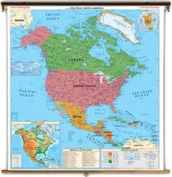 Political Map Of North America by Political Map Of North America And South America Large