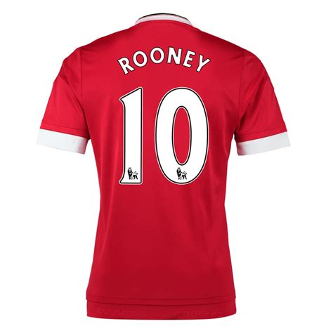 desain jersey manchester united manchester united rooney 10 home 15 16 soccer jersey