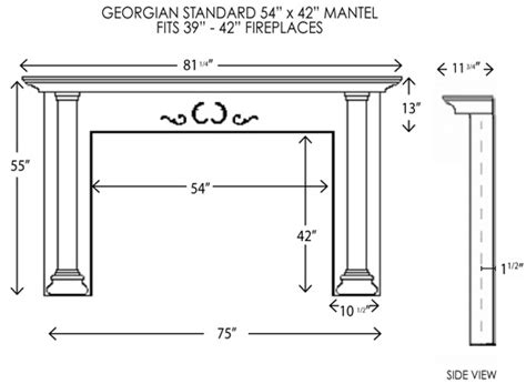Fireplace Mantel Dimensions by Wood Fireplace Mantels Fireplace Mantel Georgian