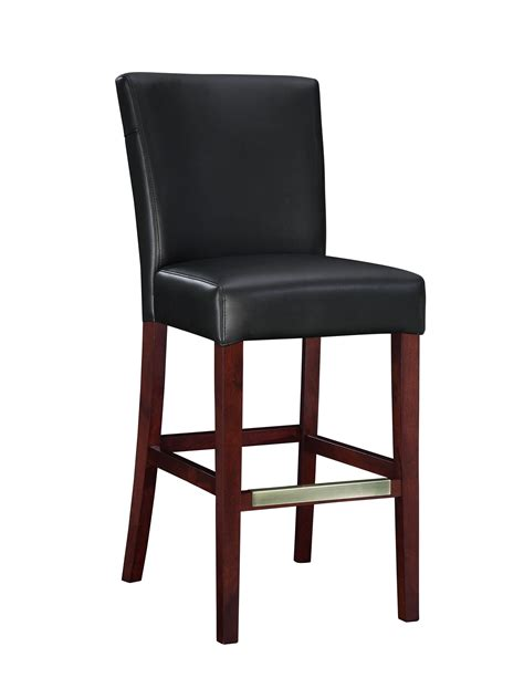 bar stools black leather powell black bonded leather bar stool 273 847