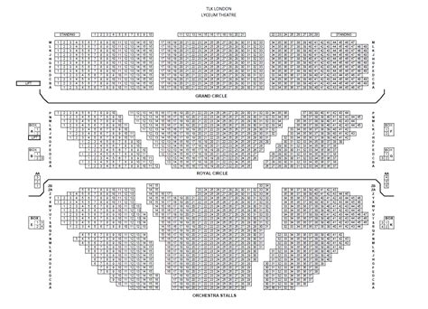 lyceum theatre floor plan lyceum theatre london official theatre tickets no booking