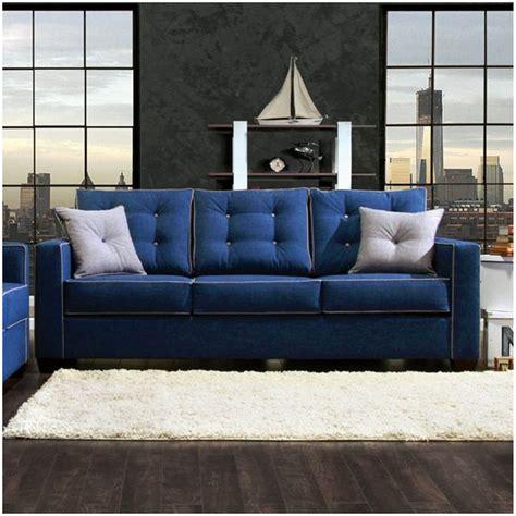 sm sofa set contemporary blue fabric sofa