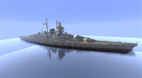 New Home Blueprints battleship dkm tirpitz minecraft project
