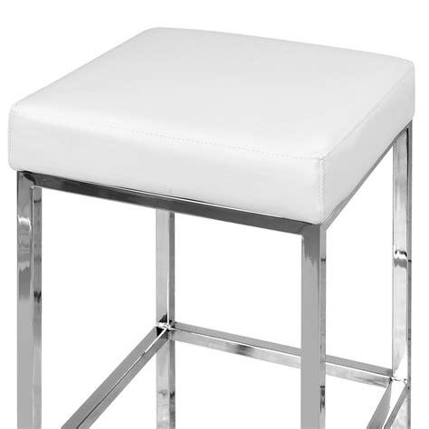Kitchen Bar Stool Sets by Set Of 2 Pu Leather Kitchen Bar Stool White