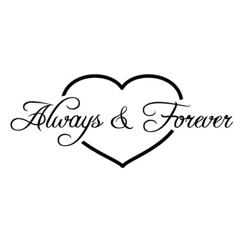 Always And Forever always and forever in wall sticker decal picture