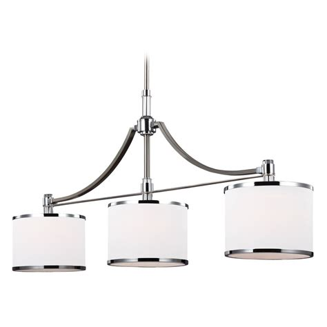 Drum Shade Island Lighting Feiss Lighting Prospect Park Satin Nickel Chrome Island Light With Drum Shade F3086 3sn Ch