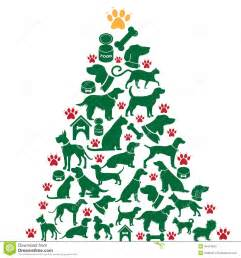 cartoon dogs and cats christmas tree stock vector image