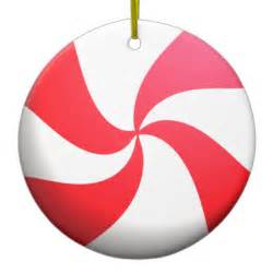 red and white peppermint candy double sided ceramic round christmas ornament zazzle