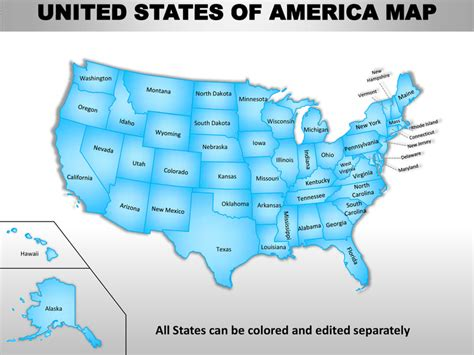 Usa Country Editable Powerpoint Maps With States And Counties 50 States Powerpoint Template