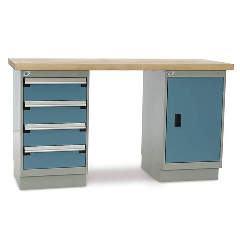 Workbench Cabinet by Rousseau Workbench With One Cabinet And One 4 Drawer