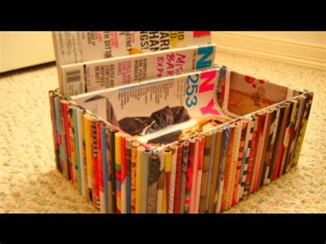 diy craft magazine diy recycled magazine organizer box