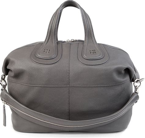 Givenchy Nightingale by Givenchy Nightingale Medium Leather Tote In Gray Elephant