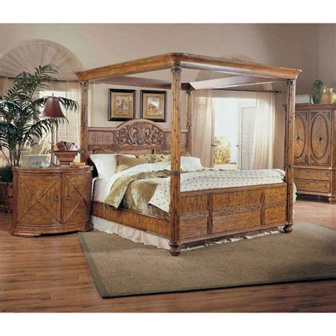 tropical bedroom sets tropical furniture tropical retreat poster canopy