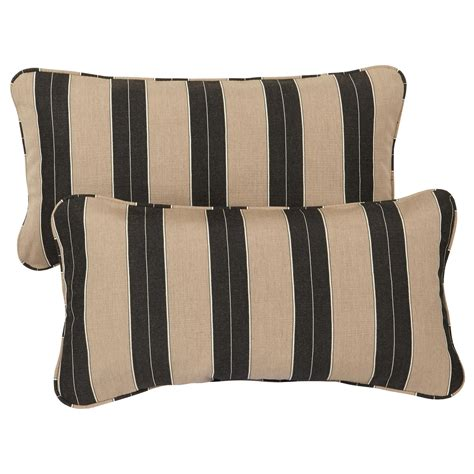 24 Inch Pillows mozaic corded indoor outdoor lumbar throw