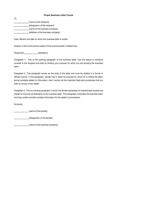 51 formal letter format template free premium templates