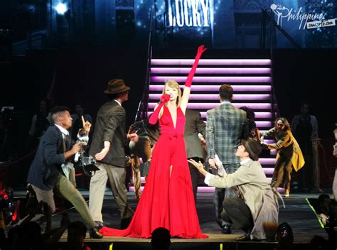 taylor swift tour philippines taylor swift in bright burning red in manila philippine