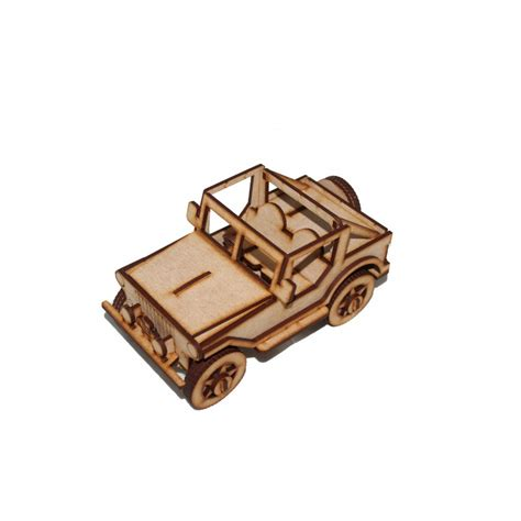 wooden land rover  puzzle