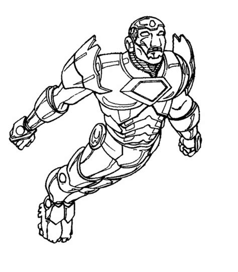 free lego iron man coloring pages