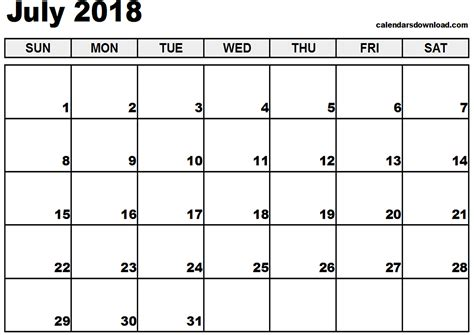 printable calendar july 2017 june 2018 july 2018 calendar printable 2017 calendars