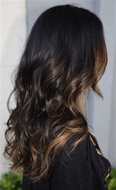 hairstyles and pick a boo color for brunette women over 50 peek a boo highlights on dark hair and beautiful soft