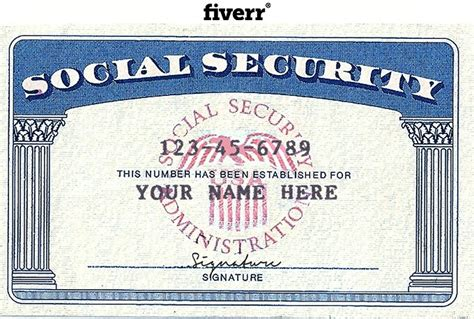editable social security card template business template
