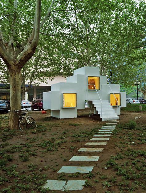 micro house by studio liu lubin installed in beijing park micro house unit by studio liu lubin ideasgn